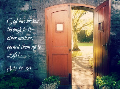 Open-Door with scripture